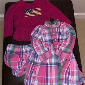 Ralph Lauren sweater and dress 9-12 mos
